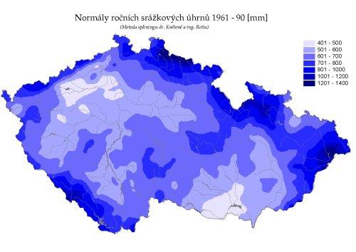 úhrn srážek ČR